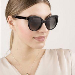 55mm Gradient Cat Eye Sunglasses